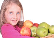 Free Girl With Apple Stock Images - 22996934