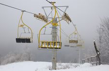 Free Ski Lift Chairs Royalty Free Stock Photo - 22997025