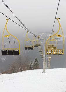 Free Ski Lift Chairs Royalty Free Stock Photos - 22997058