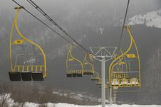 Ski Lift Chairs Royalty Free Stock Photos