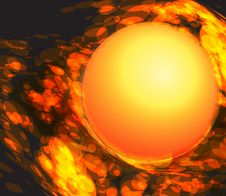 Fireball. Royalty Free Stock Photos