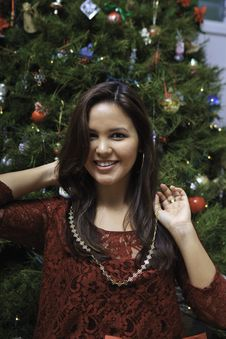 Free Beautiful Young Woman At Christmas Stock Photo - 22998310