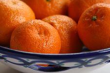 Free Oranges Is Ceramic Dish Stock Photo - 233660