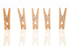Free Clothespins Royalty Free Stock Image - 235846