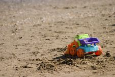 Free Toy On The Beach Royalty Free Stock Image - 236626
