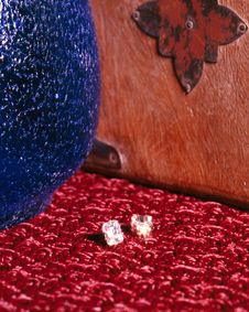 Free Diamond Earrings Stock Image - 236891