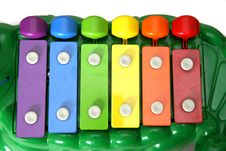 Free Kid S Xylophone Alligator Royalty Free Stock Photos - 237748