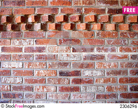 Brick wall with accent pattern free stock photos - Brick wall patterns designs ...