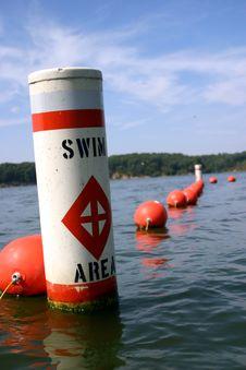 Swim Area Buoy Royalty Free Stock Photo
