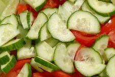 Free Cucumber-tomato Salad Royalty Free Stock Photos - 2300778