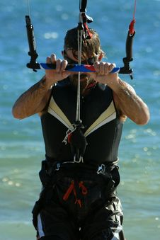 Free Kiter Concentrating Stock Photo - 2303910