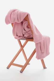 Free Dressing-gown Is On The Chair Stock Photos - 2304343