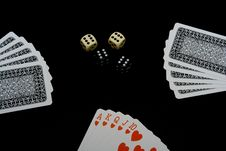 Free Playing Cards And Dices Royalty Free Stock Photo - 2304395