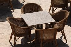 Empty Restaurant Table Stock Image