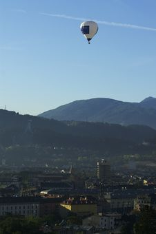 Free Baloon In The Alps Royalty Free Stock Photography - 2305287