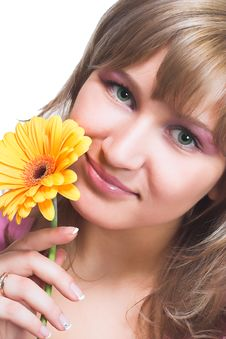 Free Blondy With Flower Stock Images - 2305404