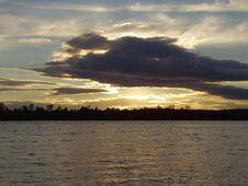 Sundown On Water Royalty Free Stock Image