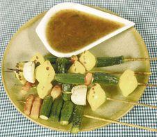 Free Vegetarian Kebops Stock Photos - 2307513