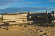 Free Bench In Sand Royalty Free Stock Photos - 2307768