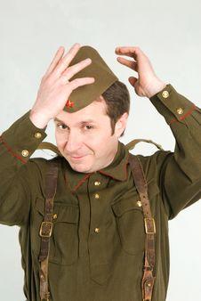 Soviet Soldier Stock Image