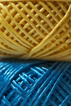 Yellow And Blue String Royalty Free Stock Photos