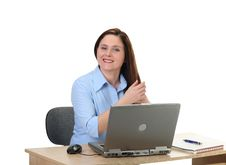 Female Employee Stock Image