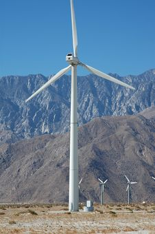 California Wind Farm Stock Image