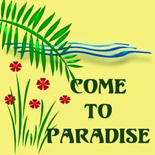 Free Come To Paradise Royalty Free Stock Photos - 2309988