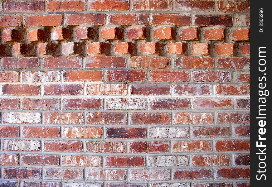 Brick wall with accent pattern