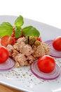 Free Tuna Salad Whit Onion End Tomato Royalty Free Stock Images - 23007949