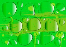 Free Water Drops On A Green Surface Stock Photo - 23002900