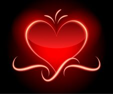 Free Red Glamor Valentine�s Background Stock Photography - 23004462