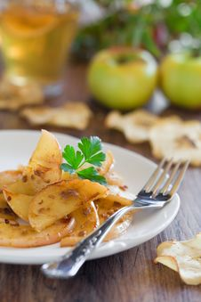 Free Apples With Anchovies Stock Photo - 23005580