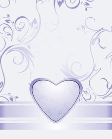 Free Lilac Heart On The Decorative Background Stock Photo - 23006810