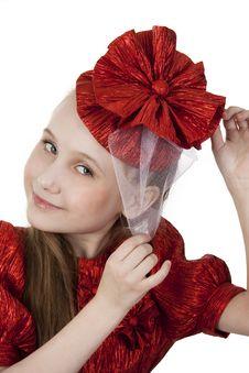 Free Fan Little Girl Smiling. Royalty Free Stock Photo - 23007395