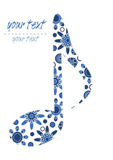 Pattern Big Blue Note Stock Photography