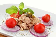 Free Tuna Salad Whit Onion End Tomato Royalty Free Stock Photos - 23007908