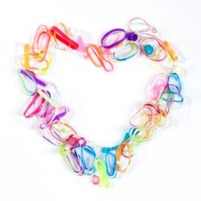 Free Heart Shape Made From Rubber Band Stock Photos - 23008473