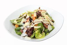 Salad With Chicken Liver And Orange Honey Dressing Stock Image