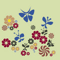 Free Flower And Butterfly Stock Image - 23018421
