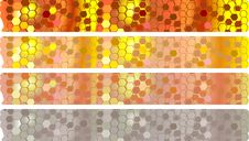 Honey Banners Set Stock Photography