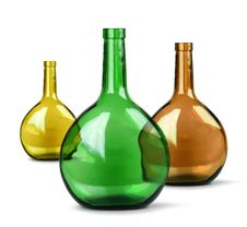 Free Exotic Colorful Glass Bottles Stock Photo - 23010800