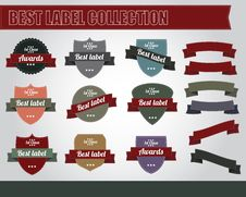 Free Vintage Label Collection Stock Photo - 23011610