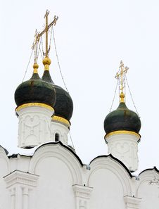 Domes Of The Orthodox Church Stock Photography