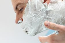Shaving Time Royalty Free Stock Photo
