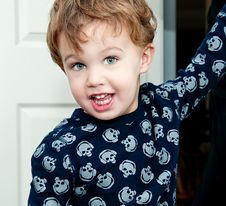 Free Little Boy Wearing T Shirt With Skulls Stock Images - 23019804