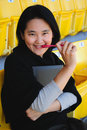 Free Close Up Of Asian College Student Stock Photography - 23020152