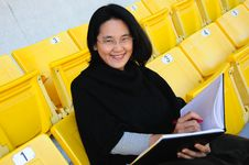 Free Young Asian College Student On Grandstand Stock Photos - 23020143