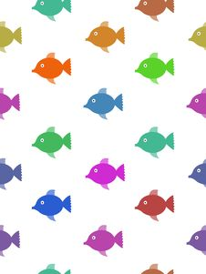 Free Seamless Colourful Fish Royalty Free Stock Image - 23022906
