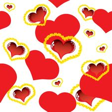 Free Valentine Love Card With Heart Stock Photo - 23023180